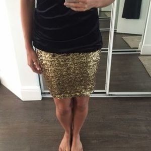 H&M Sequined miniskirt size small